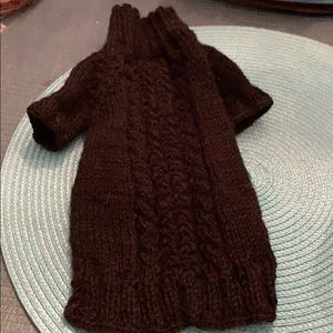 Black hand knitted doggie sweater